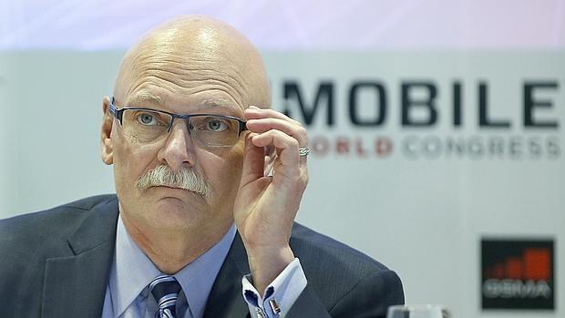 John Hoffman, durante la presentación del MWC