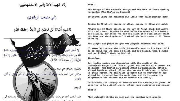 Extracto de las cartas de Bin Laden publicadas por EE.UU.