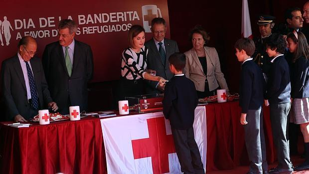Doña Letizia en la mesa de Cruz Roja el pasado mes de octubre
