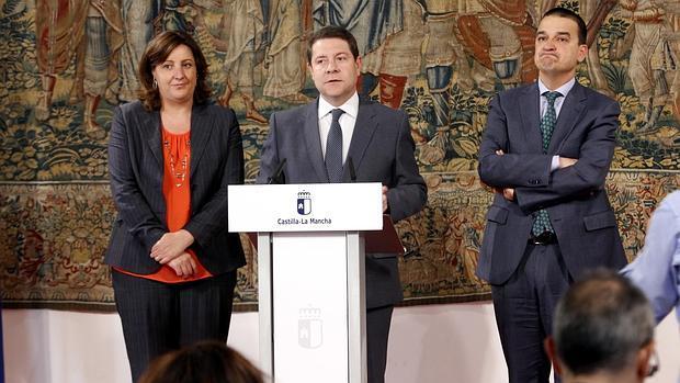 García-Page durante la rueda de prensa
