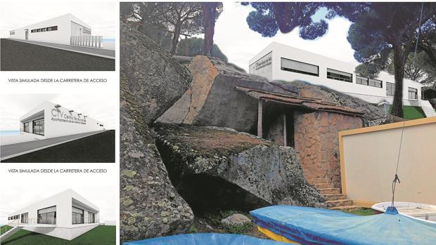 Recreación del futuro Centro Técnico de Vela del pantano de San Juan