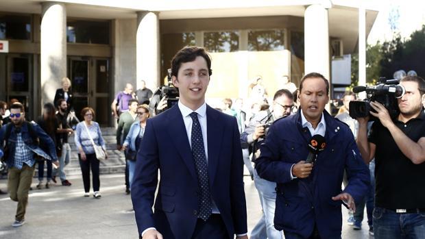 El pequeño Nicolás al salir de los Juzgados de Plaza Castilla el pasado septiembre