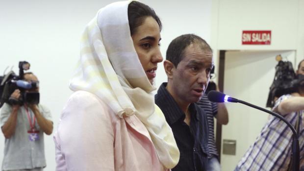La acusada, Ikram Benhaddi, durante el juicio celebrado en la Audiencia Provincial de Zaragoza
