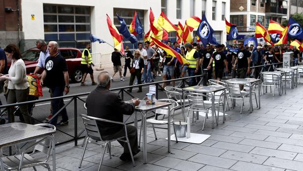Manifestación de Hogar Social Madrid el pasado 21 de mayo por las calles del centro de la capital