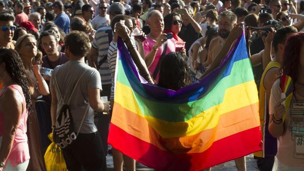 Imagen de una joven durante la celebración del Orgullo Gay en Madrid