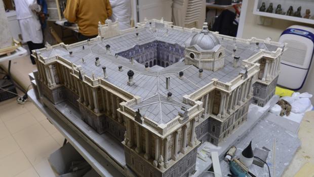 Palacio Real, reproducción para el Belén de la real Casa de Correos