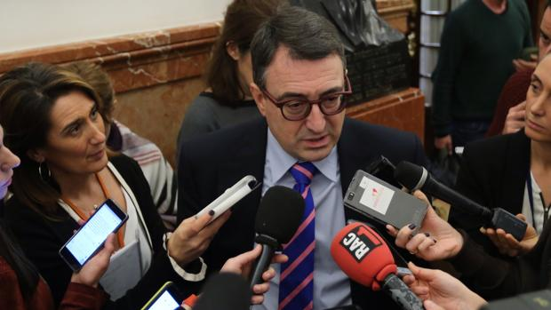 Aitor Esteban esta semana en los pasillos del Congreso de los Diputados