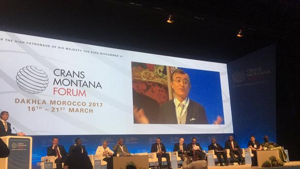 Douste-Blazy, ex ministro francés de Exteriores y funcionario de la ONU, en el Forum Crans Montana
