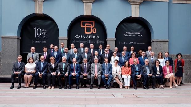 Diplomáticos españoles en África, ministro Dastis y autoridades canarias