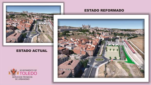 Aspecto que presentará el remodelado barrio de Santa Brárbara