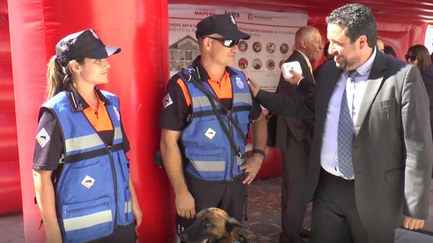 El presidente de la Diputación de Castellón, Javier Moliner, en una actividad de la Semana de la Prevención de Incendios