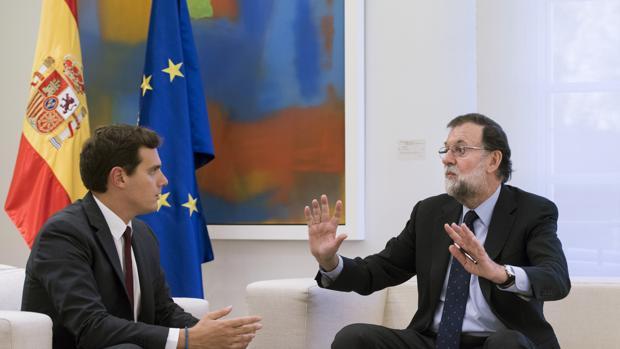 Albert Rivera junto a Mariano Rajoy en su reunión del pasado lunes
