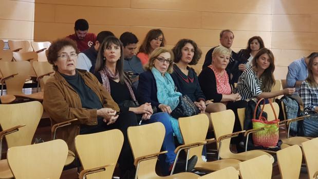 Algunas de las actrices presentes en el Pleno