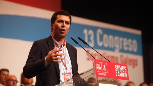 Gonzalo Caballero, en el congreso del PSdeG