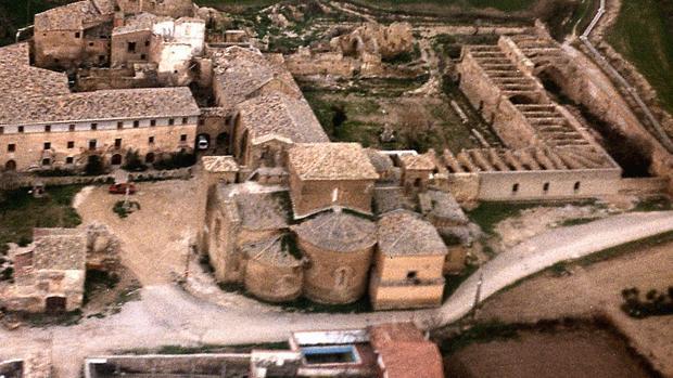 Vista área del histórico Monasterio de Sijena (Huesca)