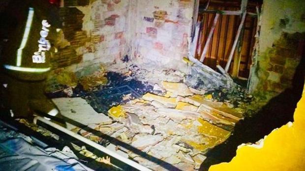 Imagen de la vivienda en la que se iniciaron las llamas