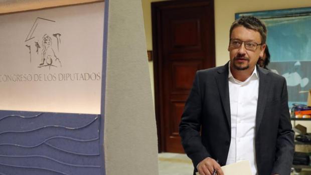 Xavier Domèench, este lunes durante la rueda de prensa para explicar el recurso de inconstitucionalidad del 155