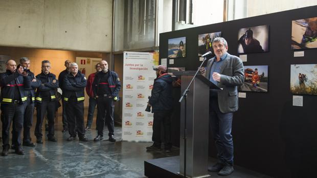 Imagen de la presentación del calendario solidario del Consorcio Provincial de Bomberos de Valencia