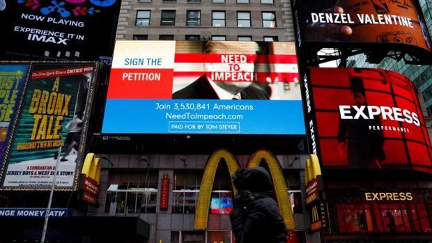 Pantallas publicitarias en Nueva York