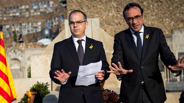 Jordi Turull (i) y Josep Rull (d), en una imagen de archivo