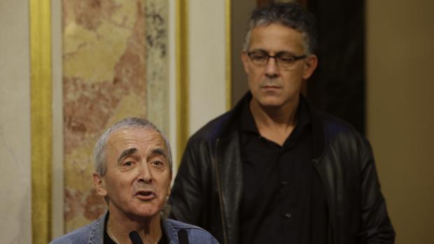 Sabino Cuadra y Mikel Errekondo en octubre de 2015