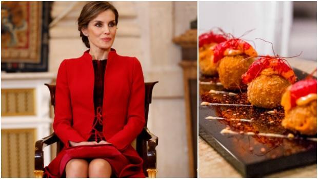 La Reina Letizia junto a uno de los platos de La Gastro
