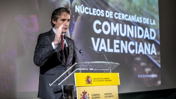 El ministro de Fomento, Íñigo de la Serna, en Valencia en una imagen de archivo