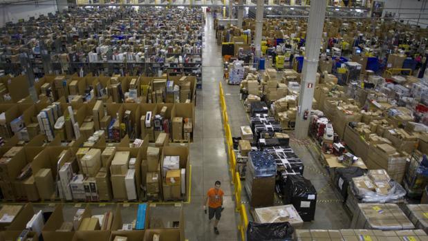 Uno de los centros logísticos de Amazon, en Madrid