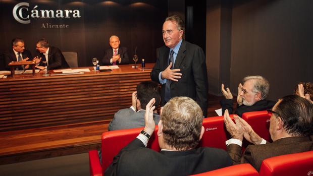 Riera, en el momento de su elección como presidente de la Cámara de Comercio de Alicante