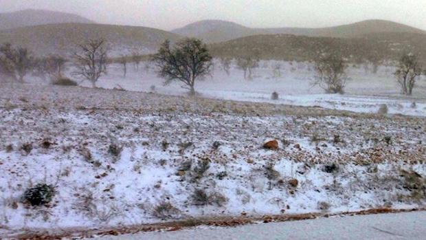 Nieve en los alrededores de Riópar, en una imagen de archivo