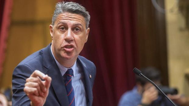 El líder del PP catalán, Xavier García Albiol, en el Parlament de Cataluña
