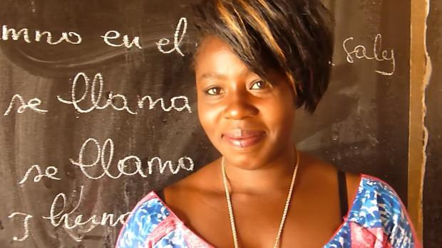 Una estudiante de español en Senegal