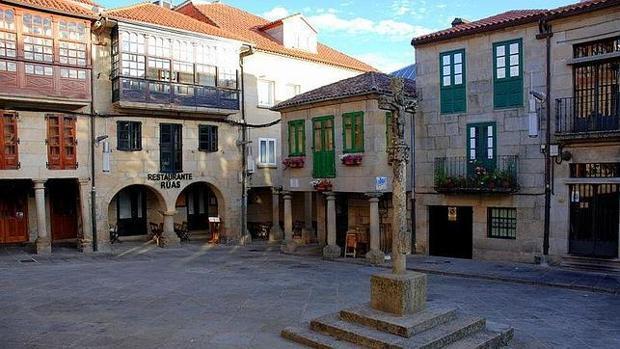 La plaza de la Leña en el casco histórico de Pontevedra
