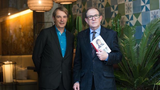 Joan Tarrida y Jordi Llovet, durante la presentación de la coleccción