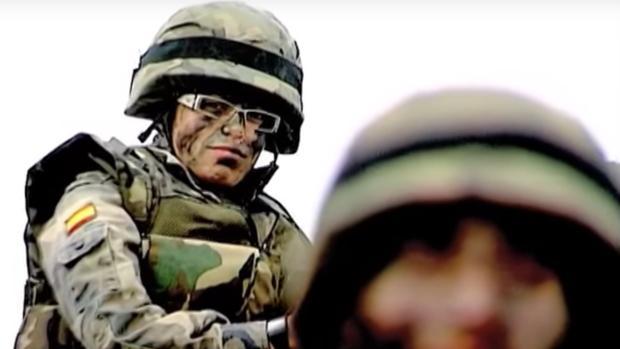 Soldado de la Brican XVI perteneciente al Regimeinto Soria 9 en Fuerteventura