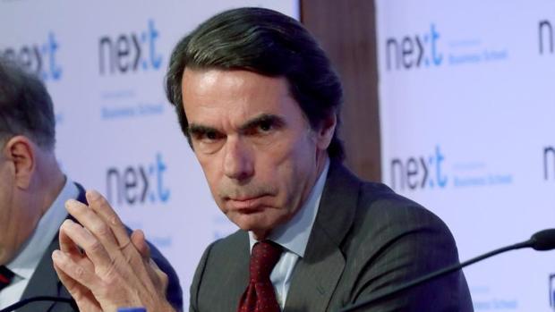 El expresidente del Gobierno José María Aznar este martes en un acto