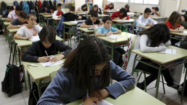 Alumnos en un centro escolar madrileño
