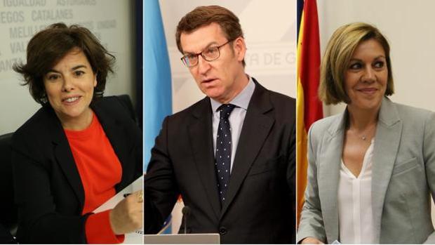 Sáenz de Santamaría, Feijóo y Cospedal, favoritos en la carrera por la sucesión de Rajoy