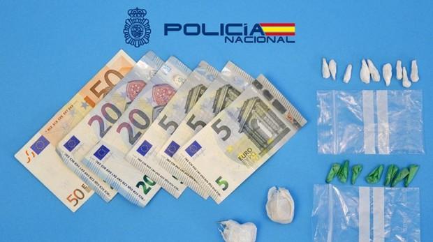 Dinero y droga incautada en el operativo