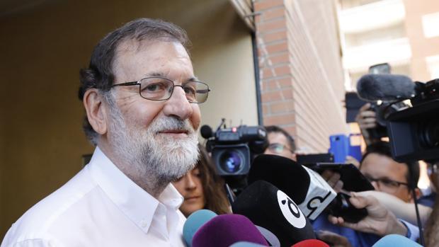 Mariano Rajoy comparece ante los medios en Santa Pola