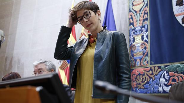 Violeta Barba (Podemos), presidenta de las Cortes de Aragón, principal fuente de financiación de los partidos políticos en esta región
