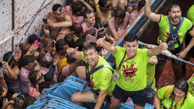 Imagen del festejo de la Tomatina de Buñol