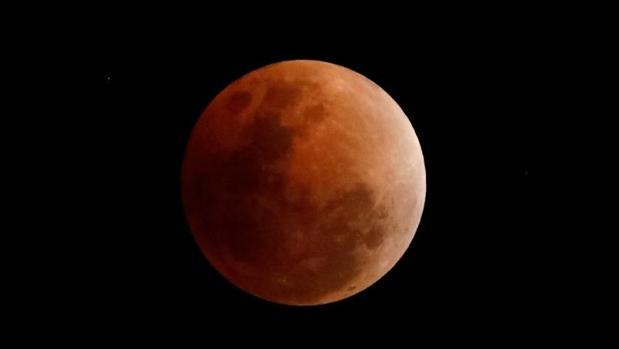 Un eclipse lunar que tuvo lugar a principios de año