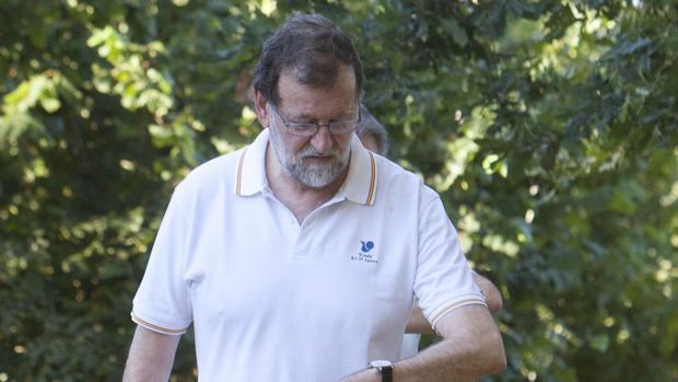 El expresidente del Gobierno, Mariano Rajoy, el pasado verano en Galicia
