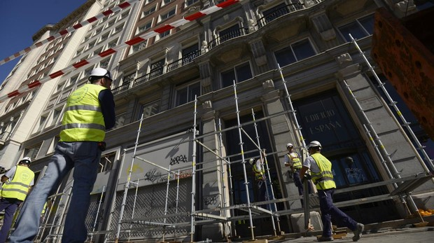 Obras en el Edificio España