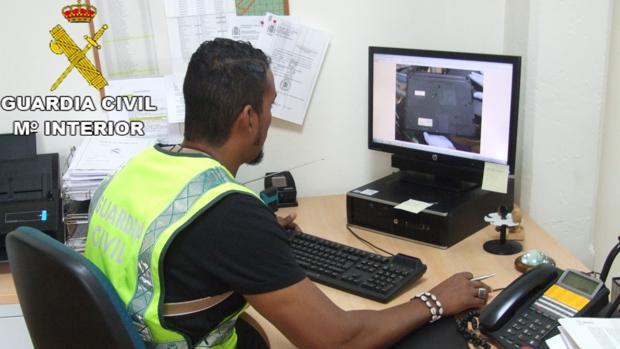 Imagen de la operación desarrollada por la Guardia Civil