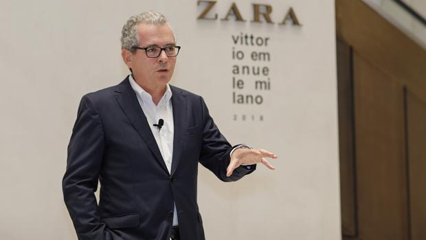 El presidente de Inditex, Pablo Isla, en Milán