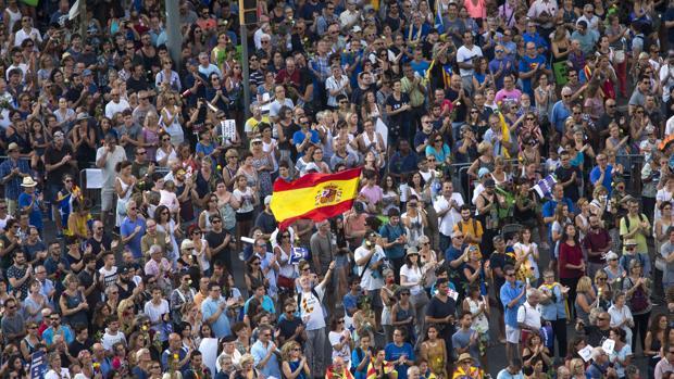 Manifestación contra los atentados yihadistas en Cataluña