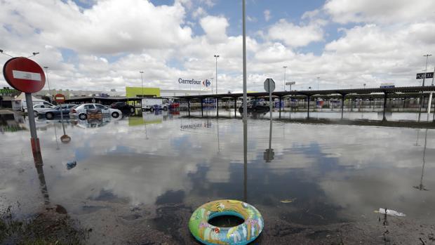 Imagen de los efectos de las lluvias torrenciales