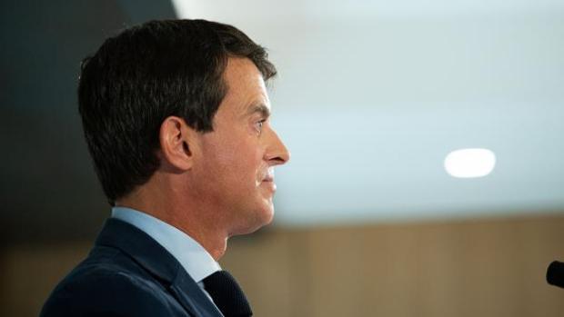 Rueda de prensa de Manuel Valls, este martes, un día después del anuncio de su candidatura para ser alcalde de Barcelona